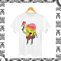 Camiseta Bob Esponja - Camiseta Dropdead - Zumbi - Desenho