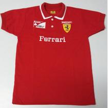 Camisa Infantil Polo Ferrari Kit C/ 3 Peças (promoção)