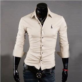 Camisa Social Masculina Slim Fit Top Fashion