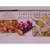 Tartas Dulces Pizzas Y Calzones Rellenos Y Salsas 3 Libros