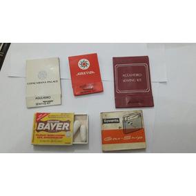 3 Caixinhas Agulheiros+caixa Porta Remédio+manual Isqueiro