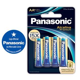 Pilha Alcalina Premium Panasonic Aa6