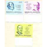 Argentina 1657/9 Gj 2363/5 Año 1987 Bordes De Hoja Mint