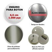 Insumo Suprimento Para Boton Button Botton 1.000 Pçs 6,5 Cm