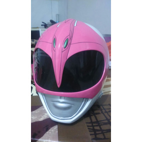 Capacete Ranger Rosa Cosplay