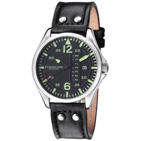 Reloj Hombre Piloto Cuarzo Luminoso Stuhrling Original