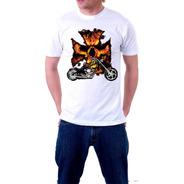 Full Weight Arts 100%cotton Manga Corta Motor Fire