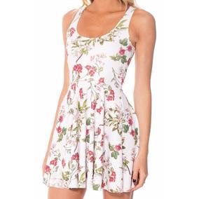 Vestido Una Pieza Floral Reversible Spandex Casual