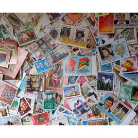 Lote Com 1000 Selos Comemorativos Temáticos Diferentes