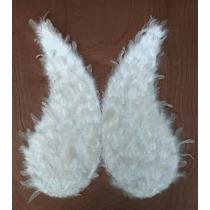 Alas Blancas De Pluma Natural Para Disfraz De Angel 70cm