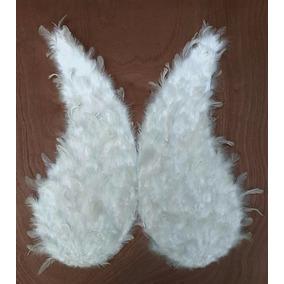 Alas Blancas De Pluma Natural 60cm Para Disfraz De Angel