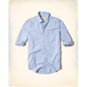 Hollister Caballero Camisa De Poplin Color Azul Cielo Origin