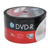 50 Midia Dvd-r Virgem Dvdr Hp C/logo 8x 4.7gb