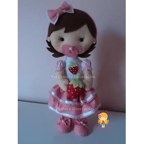 Boneca Moranguinho Em Feltro, Moranguinho Baby, Linda