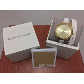 Relógio Michael Kors Original Com Case Mk Bracelete De Couro