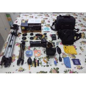 Câmera Digital Nikon D5200 C/ Lente 18-105mm E Acessórios