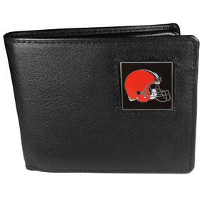 Portafolios Bi-fold De Cleveland Browns Nfl Piel