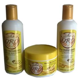 Brillo De Oro Pre Post Keratina Tratamiento Baño De Crema