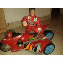 Muñeco Action Man Con Moto Roja