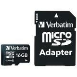Memoria Micro Sd Verbatim De 16gb Clase 10 Con Adaptador