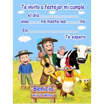 30 Tarjetas Invitacion Infantil La Granja De Zenon 9x13
