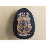 Distintivo Agente De Segurança Dourado Letra B- Frete Gratis
