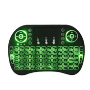 Mini Teclado Inalámbrico Touchpad  Led Retroiluminado Tv Box
