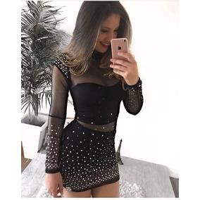 Vestido Sexy Transparente Sensual Maria Gueixa Casual Festa