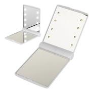 Espejo Para Maquillaje De Bolsillo Con Luz Led