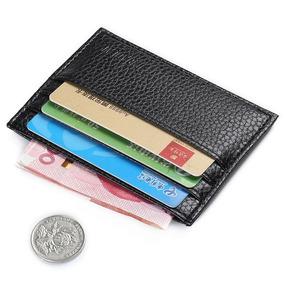 Carteira Slim Mini Porta Cartões Couro Pu Frete Único