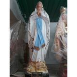 Virgen De Lourdes Yeso 65cm