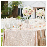B-cool Sequin Tablecloth Champagne Blush 50 X50 Sparkly Seq