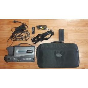 Filmadora Sharp Slim Cam Com Estojo E Acessórios - Usada
