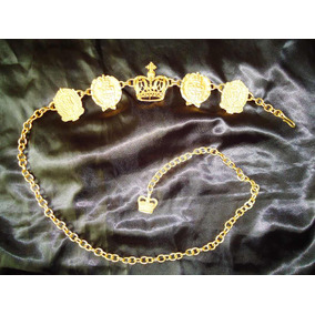 Lindo,refinado Cinto Vintage Ouro Fosco Mallu Ilyan,déc.90