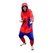 Pijama Macacão Pelúcia Kigurumi Spiderman Marvel Original
