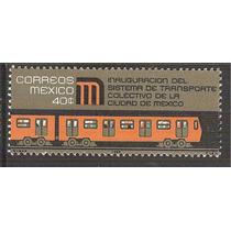 1969 Inauguración Trasporte Colectivo Tren Metro Sello Mnh