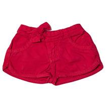 Shorts Jeans Infantil Feminino Vermelho Tamanho 03 - Toffee