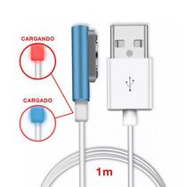 Xperia Cable Cargador Magnetico Z1 Z2 Z3 Compact Led Carga