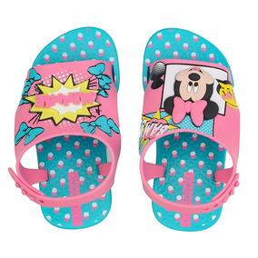 Sandalia Infantil Menina Ipanema Disney Azul/rosa 26111 Love