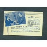 Perfumes Lubin . Antigua Invitacion Cine Nacional .