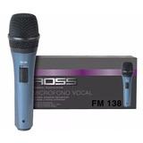 Microfono Dinamico Ross Fm138 Karaoke Voces Oferta C/cable