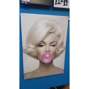 Cuadro Marilyn Monroe Chicle Globo Retro Pin Up 40x60cm