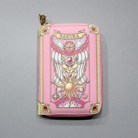Sakura Cartera Corta Bolso Estuche Cierre Libro Tarjetas