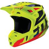 Capacete Fox V2 Race Azul / Amarelo