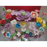 Flores En Pastillaje Reposteria