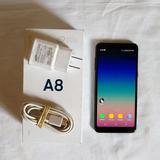 Galaxy A8 2018, Sm-a530f, Negro, Como Nuevo, En Caja, Libre