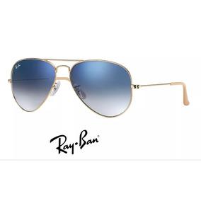 Óculos De Sol Ray-ban Rb3025 Aviator Dourado Azul Degradê 238af9ab0a