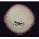 Prato (s) Raso Antigo Longwy Francês Com Pato Em Porcelana