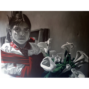 Pintura, Oleo Sobre Tela. David Villaseñor