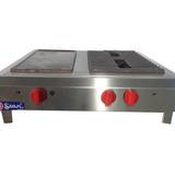 Cocina De Mostrador 2 Hornillas Plancha Acero Inoxi - Mstar